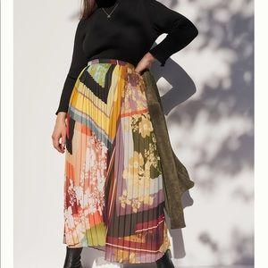 Anthropologie• maxi Consuela pleated fan skirt